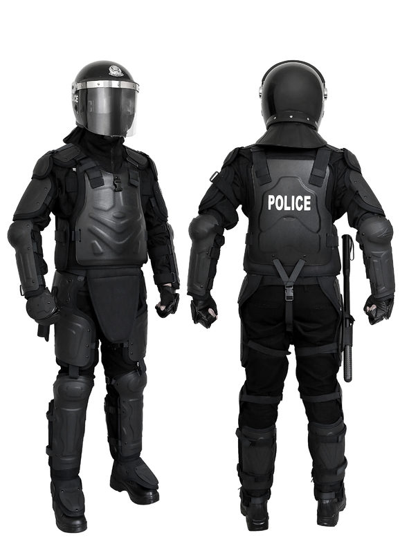 Neck Protection Anti Riot Suit With Transportation Bag , Full Body Armor Suit