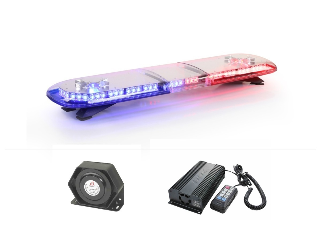 3W Emergency Vehicle  Police LED Light Bar Built In Loudspeaker And Amplifier