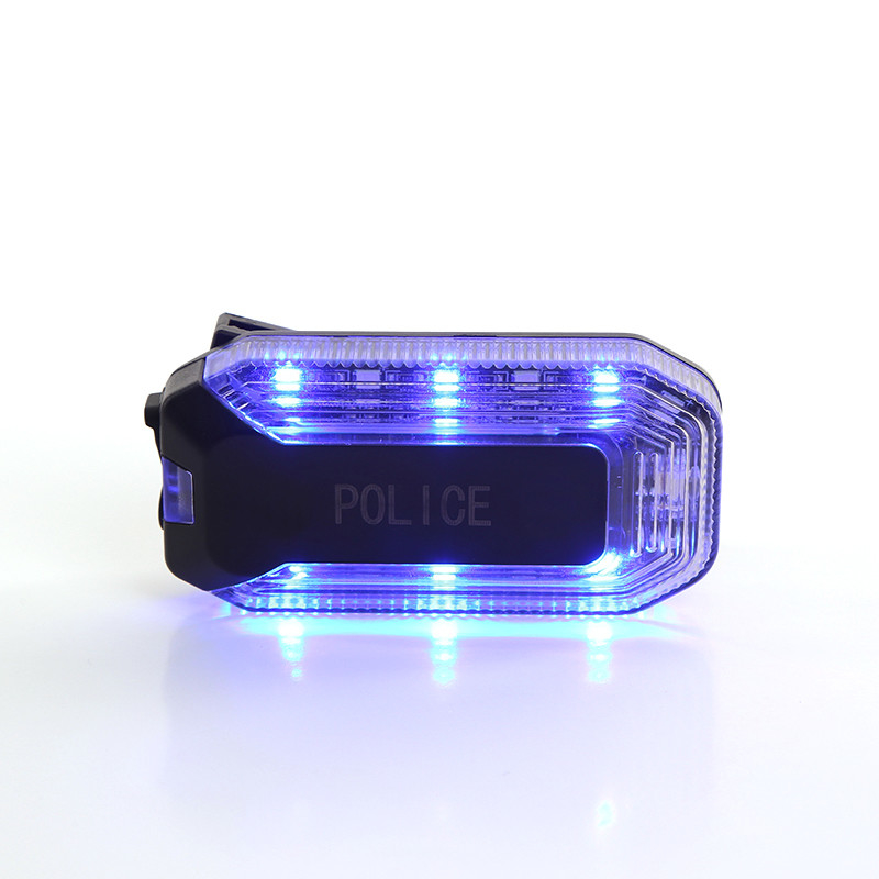 Red Blue Flash Warning Police Shoulder Light For Emergency Traffic Department